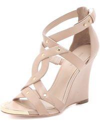 Pour La Victoire - Valen Wedge Sandals - Lyst