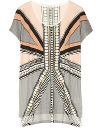 Sass & Bide Playing with Fire Embellished Cotton Jersey Tshirt - Lyst