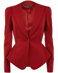 Alexander McQueen One Button Jacket - Lyst