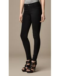 Burberry Skinny Fit Seam Detail Trousers - Lyst