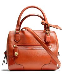 Coach Poppy Mini Satchel in Textured Patent Leather - Lyst