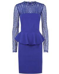 Emilio Pucci Milano Knit Peplum Dress - Lyst