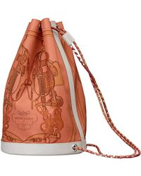 hermes Soie Cool medium cyclamen pink/capucine orange