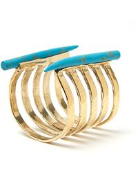 Kelly Wearstler | Banded Horn Cuff in Turquoise | Lyst