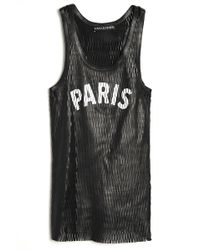 Love Leather - Paris Slam Dunk Tank - Lyst