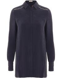 Matthew Williamson Spring Brushed Silk Tailored Shirt - Lyst