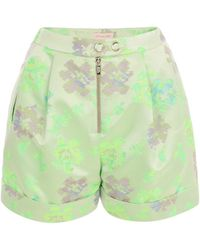 Matthew Williamson Static Floral Tailored Shorts - Lyst