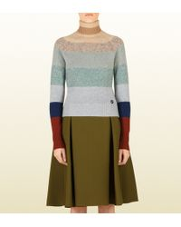 Gucci Multicolored Striped Turtleneck Sweater - Lyst
