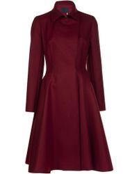 Lanvin Flare Skirt Coat - Lyst