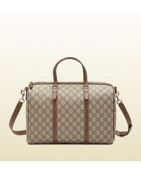 Gucci Nice Gg Supreme Canvas Boston Bag - Lyst