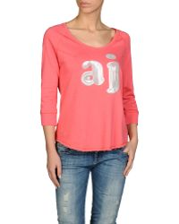 Armani Jeans Sweatshirt in Cotton and Viscose with Logo Print - Lyst