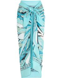 Emilio Pucci - Printed Cottonvoile Sarong - Lyst