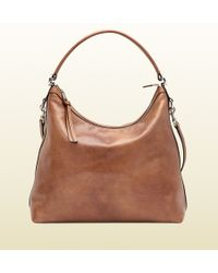 Gucci Miss Gg Leather Hobo - Lyst