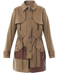 Thakoon Addition - Leather Panel Trench Coat - Lyst