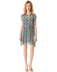 Girl by Band of Outsiders - Mini Blossom Crinkle Dress - Lyst