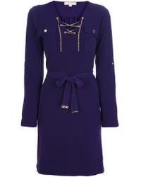 MICHAEL Michael Kors Chain Detailed Dress purple - Lyst