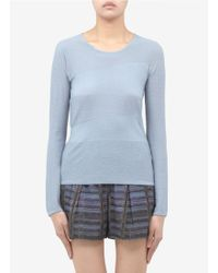 Armani Mixed Texture Fine Knitted Wool Cashmere Top - Lyst