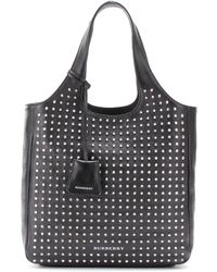 Burberry Brit - Studded Leather Shopper - Lyst