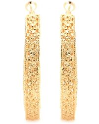 Isharya - Goldplated Hoop Earrings - Lyst