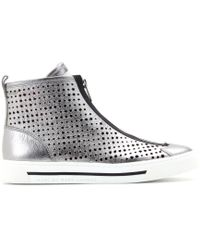 Marc By Marc Jacobs - Starstruck Perforated Leather Sneakers - Lyst