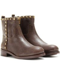 Tory Burch Shauna Leather Ankle Boots - Lyst