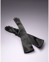 Agent Provocateur Long Satin Gloves - Lyst