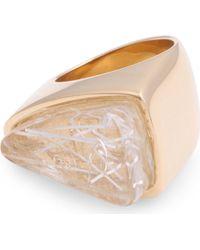 Chloé Bettina Triangle Ring Transparent - Lyst