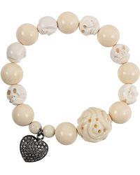 Colette - Diamond Leaf Charm Bracelet - Lyst