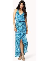 Forever 21 Layered Watercolor Maxi Dress - Lyst