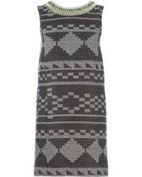 Matthew Williamson Embroidered Sleeveless Shift Dress - Lyst