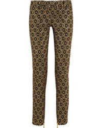 Balmain Metallic Jacquard Skinny Pants - Lyst