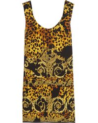 Versace Printed Silk Dress - Lyst