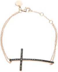 Ebba Brahe - Diamond Encrusted Cross Bracelet - Lyst