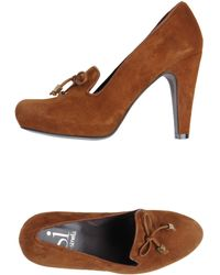 Si By Sinela Moccasins With Heel - Lyst