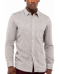 AG Adriano Goldschmied Dual Pocket Work Shirt - Lyst