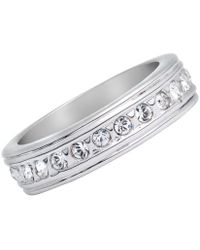 Aurora - 18ct White Gold Plated Ring - Lyst