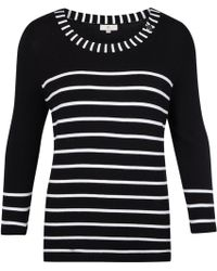 Cc Knitted Monochrome Jumper - Lyst