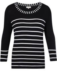 Cc Knitted Monochrome Jumper black - Lyst