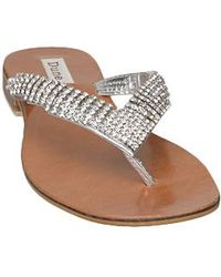 Dune Keeper D V Diamante Toe Post Sandals - Lyst