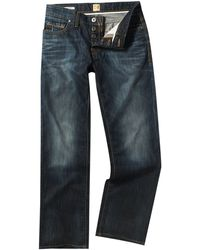 Hugo Boss Orange 31 Loose Mid Blue Wash Jeans - Lyst