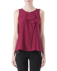 Marc By Marc Jacobs Alex Silk Ruffle Top - Lyst