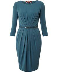 Max Mara Studio Agosto 3/4 Sleeved Belted Dress - Lyst