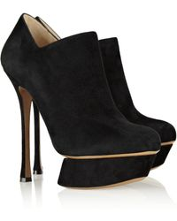 Nicholas Kirkwood Suede Ankle Boots - Lyst