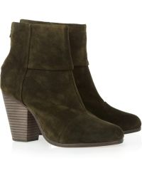 Rag & Bone Classic Newbury Suede Ankle Boots green - Lyst