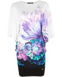 Roberto Cavalli Floral Lightweight Shift Dress - Lyst