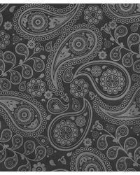 Simon Carter - Grey Paisley Silk Scarf - Lyst
