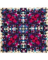 Teatum Jones - Fuchsia Abstract Print Silk Scarf - Lyst