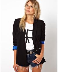 Asos Double Breasted Blazer - Lyst