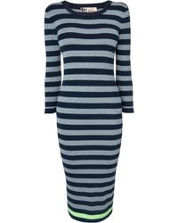 Boutique By Jaeger Lurex Striped Midi Dress - Lyst