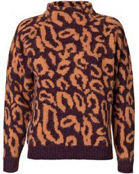 By Malene Birger Fensia Leopard Sweater - Lyst